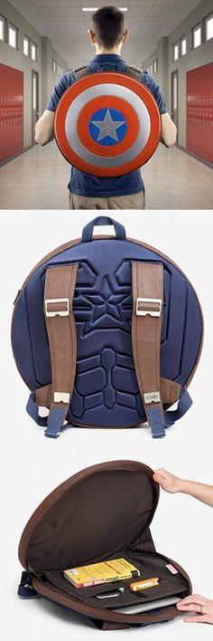 Seems legit Captain Americas Backpack...