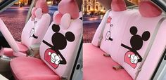 Lovely and Colorful Cartoon Mickey Mouse Car Seat Covers