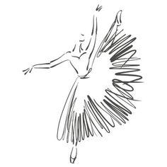 Battement de danseuse classique