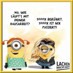 Lachen Macht Happy, Happy Minions, Humor, Haha, Diy And Crafts, Lunch Box, Funny, Cartoons, Smile