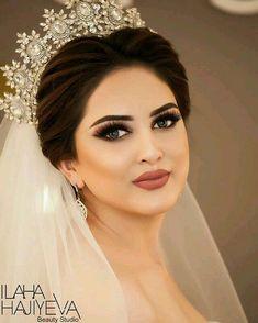 This Pin was discovered by Nur Bridal Makeup Looks, Bride Makeup, Wedding Hair And Makeup, Hair Makeup, Christian Bride, Braut Make-up, Bride Look, Wedding Looks, Bride Hairstyles