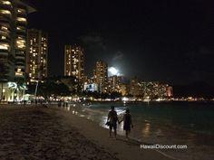 #50: Moonlit walks on Waikiki Beach - 50 Things to do on Oahu http://www.hawaiidiscountblog.com/things-to-do-on-oahu/