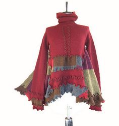 Recycled Sweater Tunic by RebeccasArtCloset, via Flickr