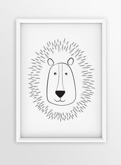 Nursery Wall Art Print   Illustration LION
