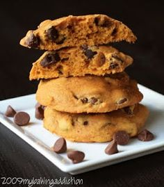 Pumpkin Chocolate Chip Cookies | My Baking Addiction