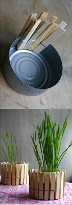 DIY Planter and Candle Holder