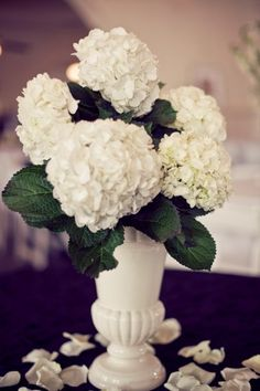 Ruffly hydrangea look stunning in this arrangement! Hydrangea are available year-round (and not just in white!) at GrowersBox.com!