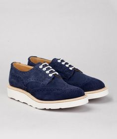 Tricker's x Norse Projects - Suede Derby Brogues
