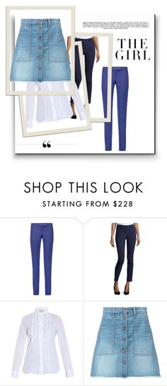 """bright stars"" by cate-jennifer ❤ liked on Polyvore featuring Pierre Balmain, ZAC Zac Posen, Paul & Joe, Current/Elliott, Whiteley and Kershaw"