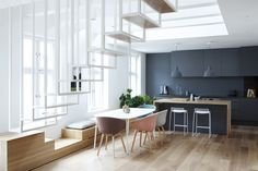 Completed in 2013 in Oslo, Norway. Images by Marcelo Donadussi. Background:  The apartment is in the top floor of a 19th century apartment building in central Oslo in Norway. Purchasing the loft space above the...