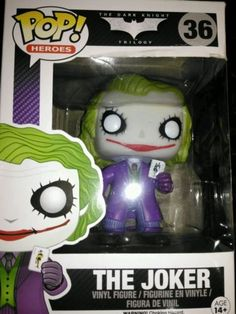 The joker #funko pop! vinyl #figure (36) - the dark #knight,  View more on the LINK: 	http://www.zeppy.io/product/gb/2/282332773912/