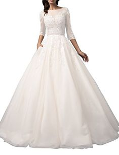 28efa9e85d516 Ethel Women s Applique 3 4 Sleeve Mini Wedding Dress with... https