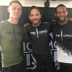 Tom Hardy & friends at the gym - Sept 2017