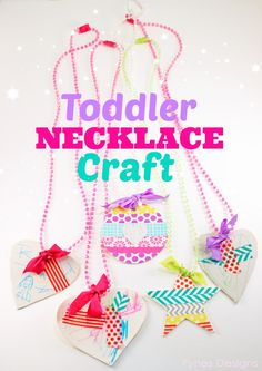 Bead Necklaces- Perfect Birthday party craft, works for all ages, boys and girls