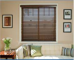 Brown Faux window blinds #windowblinds #window. Order window blinds at 3stepbinds.com - Choose, Order, Delivered