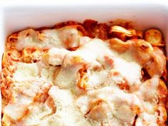 Get Cheesy Baked Tortellini Recipe from Food Network