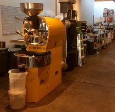 Roasting section of SE Portland coffee shop