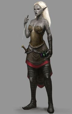 Drow Assassin, last of the four assassins commissioned for the Facebook Algadon RPG game