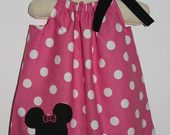 Girls dress, Minnie Mouse Pillowcase dress, handmade childrens clothing by Willow Bee Apparel. $18.99, via Etsy.