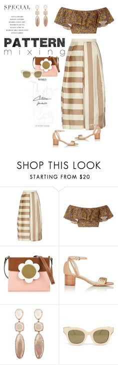 """Summer Pattern Mixing"" by ellie366 ❤ liked on Polyvore featuring TIBI, Philosophy di Lorenzo Serafini, Orla Kiely, Barneys New York, Eloquii, croptop, stripes, floralprints, patternmixing and culottes"