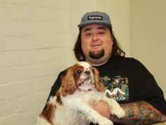 """Pawn Stars' Austin """"Chumlee"""" Russell wants his two pit bulls to become therapy dogs."""