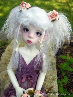 Sold Out White Resin Layla Elf MSD BJD by Kaye Wiggs