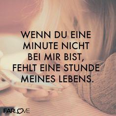 Fernbeziehung - Wenn du eine Minute nicht bei mir bist, fehlt eine Stunde meines Lebens. http://www.farlove.de/