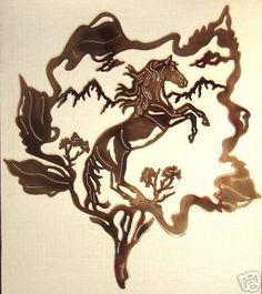 Horse Head In Horseshoe By Kathryn Darling Laser Cut Metal