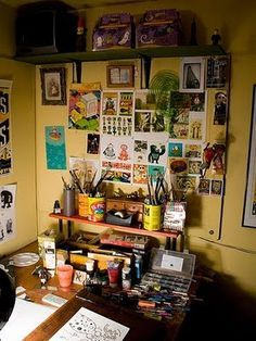 my cozy artist work space at home - Google Search