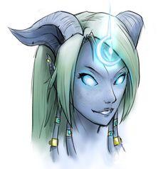 Draenei Priest - World of Warcraft. I sort of miss mine