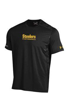 Under Armour Pitt Steelers Mens Black NFL Combine Authentic Performance Tee