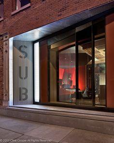 nice metal storefront. inside/outside