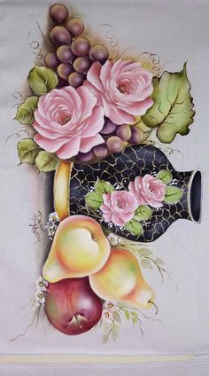 481 Best bules e xícaras images in 2020 Fruit Painting, Tole Painting, Fabric Painting, Decoupage Jars, Decoupage Paper, Oriental Flowers, Painted Cups, Coffee Painting, Fruit Art