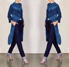 Shibori# indigo # Kurti # casual look # Indian fashion
