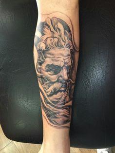 Poseidon vindo com sua imponência para cobrir os erros do passado... Waguinho tattoo SP - Brasil