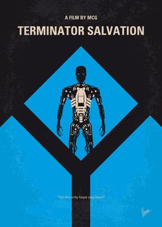 """The Terminator Salvation Minimalist #Displate artwork by artist """"Chungkong Art"""". Part of a 5-piece set featuring minimalist designs based on the Terminator film franchise. £35 / $46 per poster (Regular size), £71 / $93 per poster (Large size) #Terminator #TheTerminator #Terminator2 #JudgmentDay #Terminator3 #RiseOfTheMachines #TerminatorSalvation #TerminatorGenisys #JamesCameron #T800 #T1000 #JohnConnor #SarahConnor #KyleReese"""