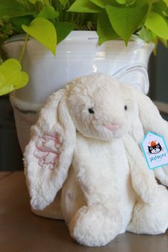 #Monogrammed Jellycat bunnies.  Seriously.  Does it get any cuter??