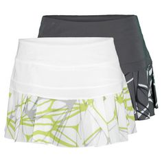 TheNikeWomen's Printed PleatedWoven TennisSkirtis  great for athletes who like versatility in their wardrobe. The contrast pleats  in a cool, contemporary pattern on this classic skort offer great style and ventilation, while the  Dri-FIT technology wicks away sweat and the built in shorts provide ball  storage.#niketennis #tennisskirt