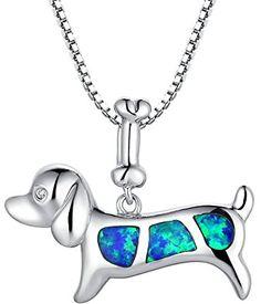 Colgante de plata perro salchicha