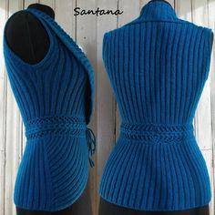 Diy Crafts - Diy Crafts - View album on Yandex. Knit Vest Pattern, Lace Knitting Patterns, Easy Sewing Patterns, Knitting Designs, Vogue Knitting, Baby Knitting, Crochet Woman, Knit Crochet, Diy Clothes