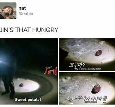 HAHAH POOR JIN! TRY COOKING IT JIN MAYBE ITS EDIBLE HAHAHAHAH