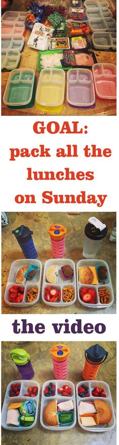 Pack 12 Lunches at once. THE VIDEO. Click to watch.