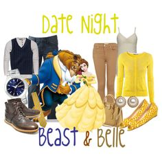 """""""Date Night: Beast & Belle"""" by audreyk1227 on Polyvore"""