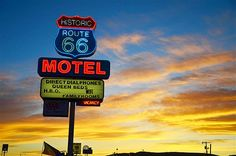 Image: Sign for the Historic Route 66 Motel in Seligman, Arizona (© ITV/Rex Features)