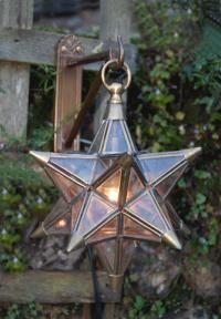 Outdoor Glass Star Lanterns
