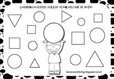 "Training and development of children - ""Fidget"" Shapes Worksheet Kindergarten, Shapes Worksheets, Kindergarten Math, Training And Development, Cute Images, Coloring For Kids, Math Activities, Classroom, Education"