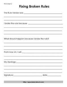 A Think Sheet for breaking rules
