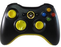 Master Modded Controller Xbox 360 In Custom Yellow Out