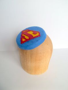 Superman Superhero Comic Book Pillbox Cocktail Hat by ChefBizzaro, $75.00