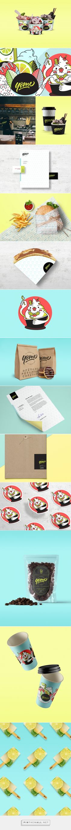 Yome Ice Cream and Eatery Branding and Packaging by Legion Brand | Fivestar Branding Agency – Design and Branding Agency & Curated Inspiration Gallery #branding #brand #brandidentity #packaging #packagingdesign #icecreampackaging #restaurantbranding